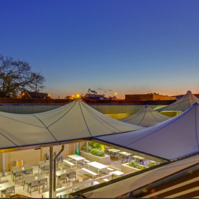 Shade To Order Australia - Conical Commercial Shade Sail - Awnings ǀ Custom Sails ǀ Custom Shade Sails ǀ Pool Shade Sails ǀ Sail Awning ǀ Sail Canopy ǀ Sail Canopy ǀ Sun Shade Sail - Newcastle, Sydney and Australia-wide