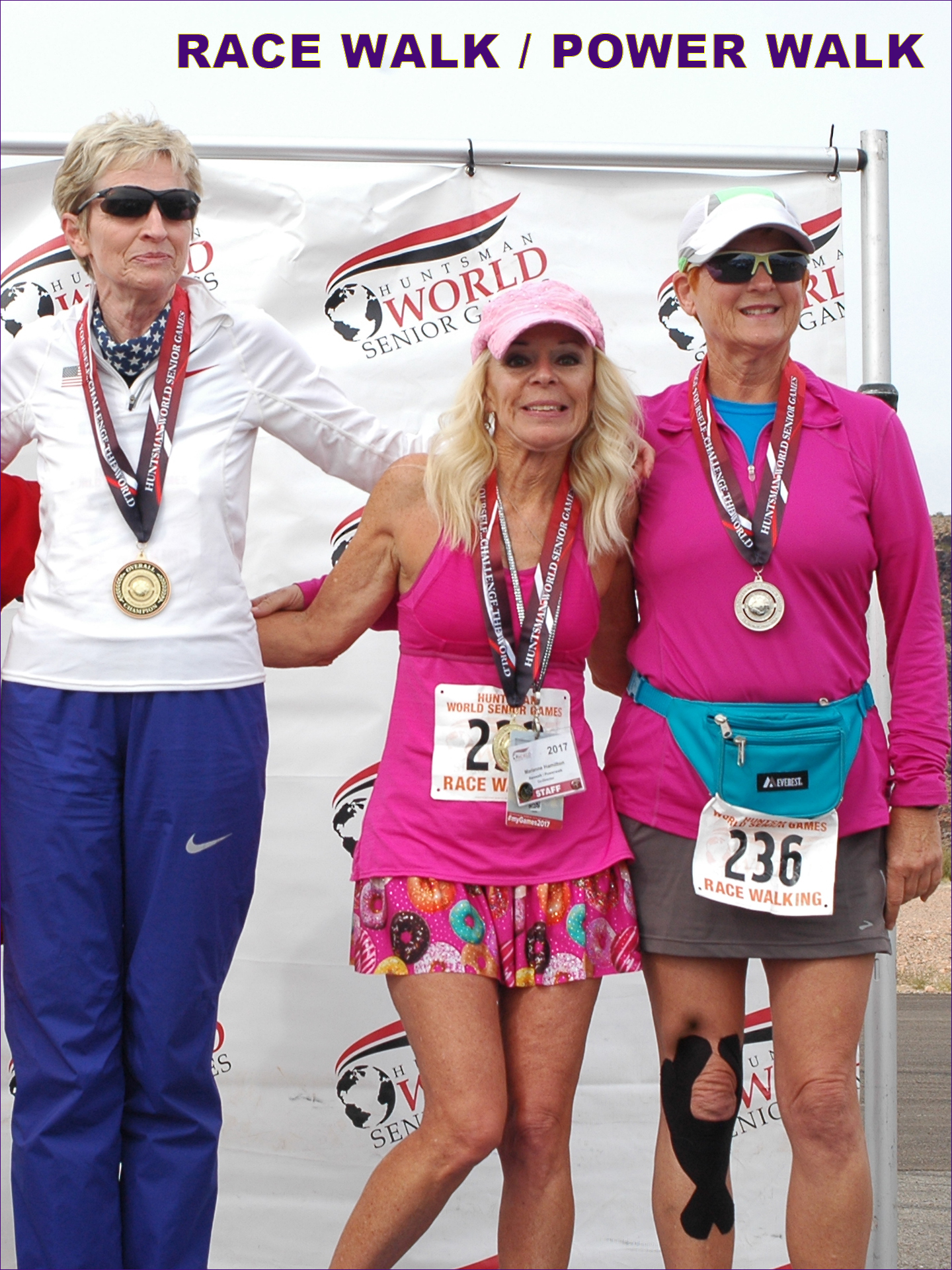 top women in 2017 Huntsman World Senior Games 5K race walk in 65-69 age group