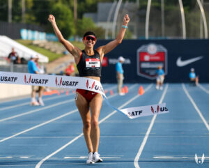 katie burnett wins 10km race walk at 2019 Toyota USATF Outdoor Championship