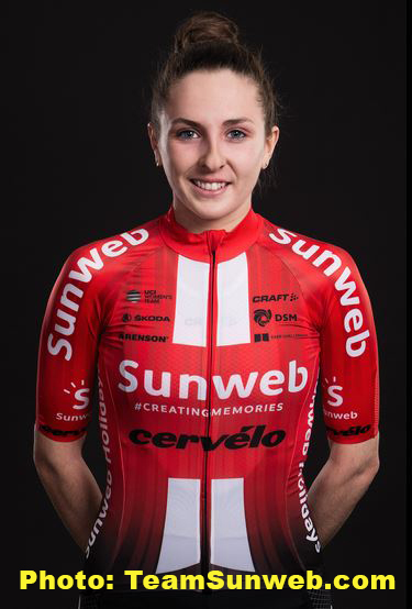 color photo of juliette labous. photo credit to team sunweb cycling