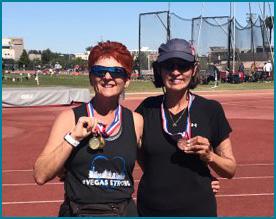 sandi stapleton and liz carson at 2019 nevada senior games