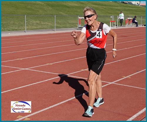 Racewalker Renate Cheetham