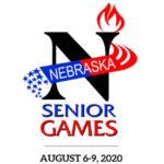 Nebraska Senior Games logo and event dates