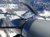 Beautiful view through the turbine props.