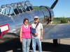 members of the public checking out the airplanes in McGrath