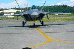 F22 Raptor landed in Alaska!