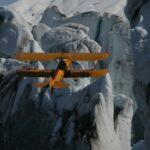 Marcus over Columbia Glacier Photographer Joe Prax