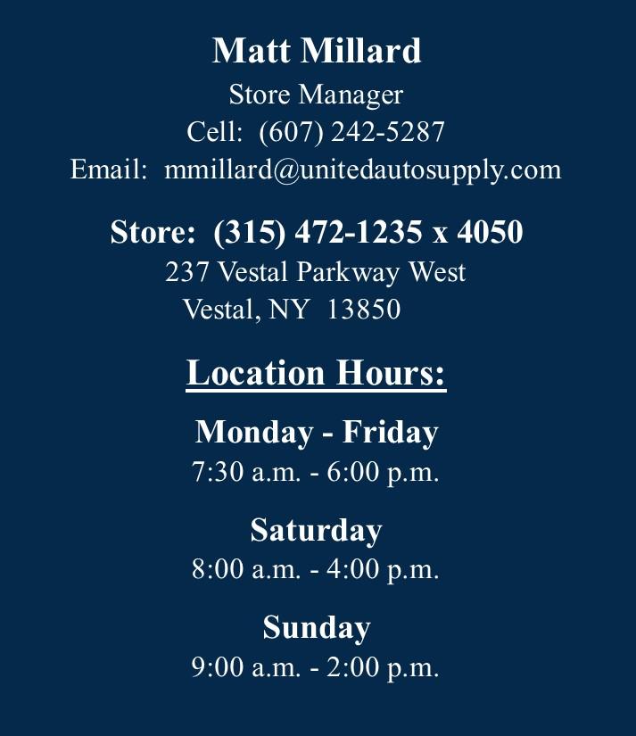 Vestal - Manager Info 7.3.20
