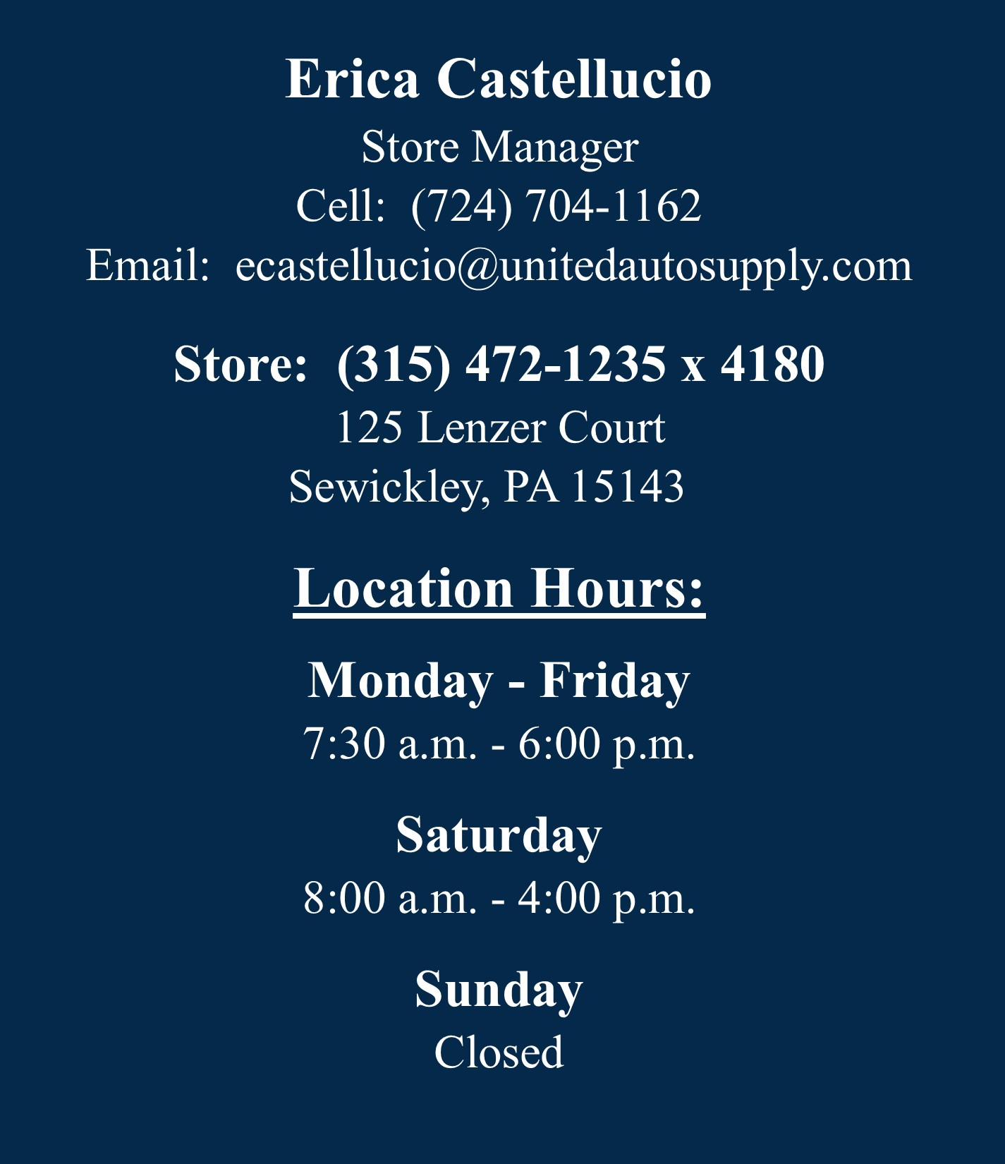 Sewickley Manager Info 8.10.21