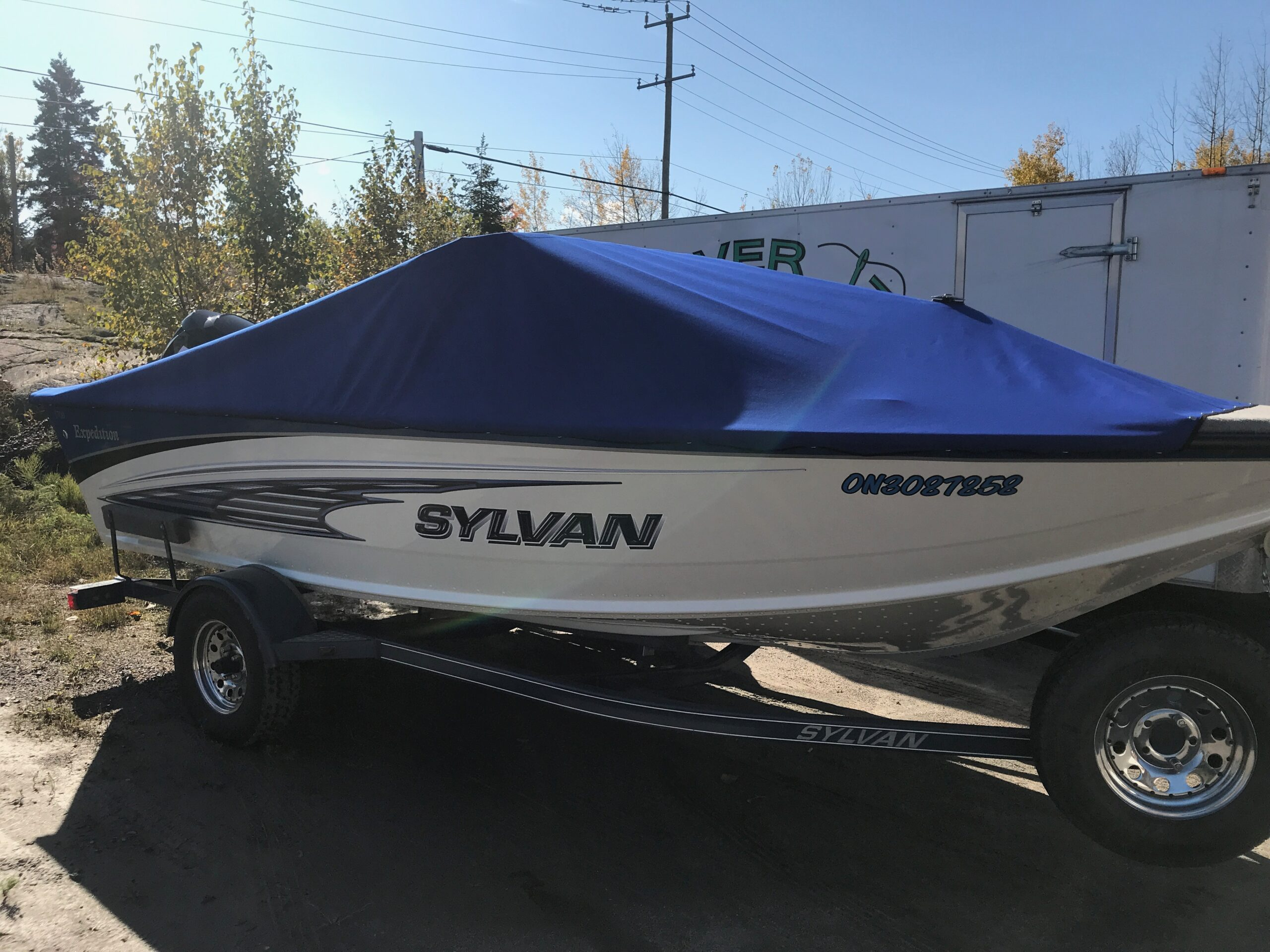 Custom Manufactured Travel Boat Cover Ontario