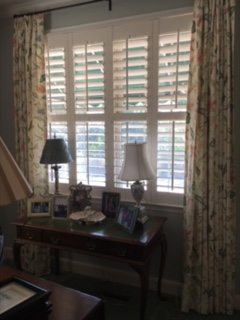 One of our available plantation shutters installed in a home in Savannah, GA