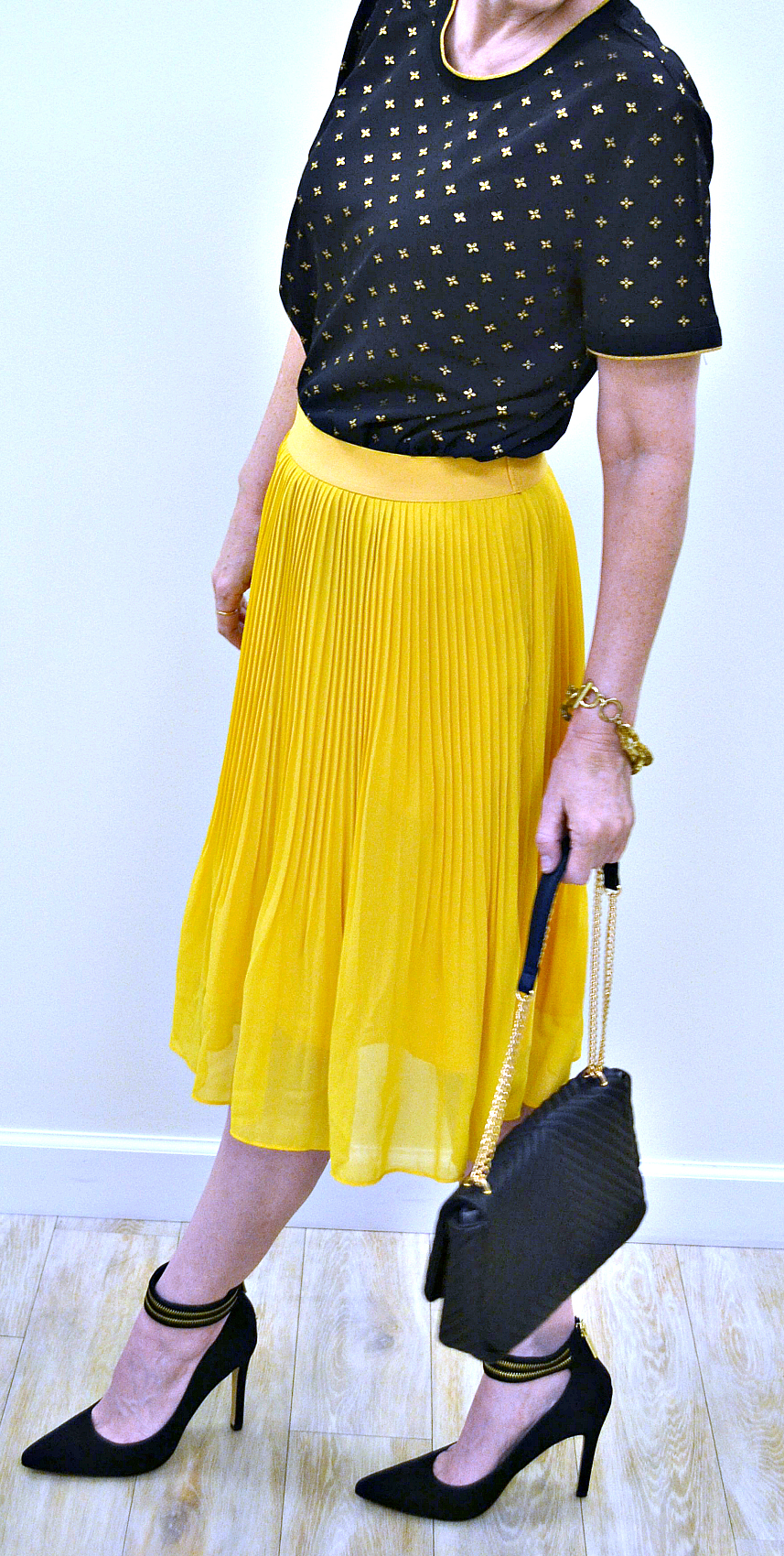 a new day mustard skirt