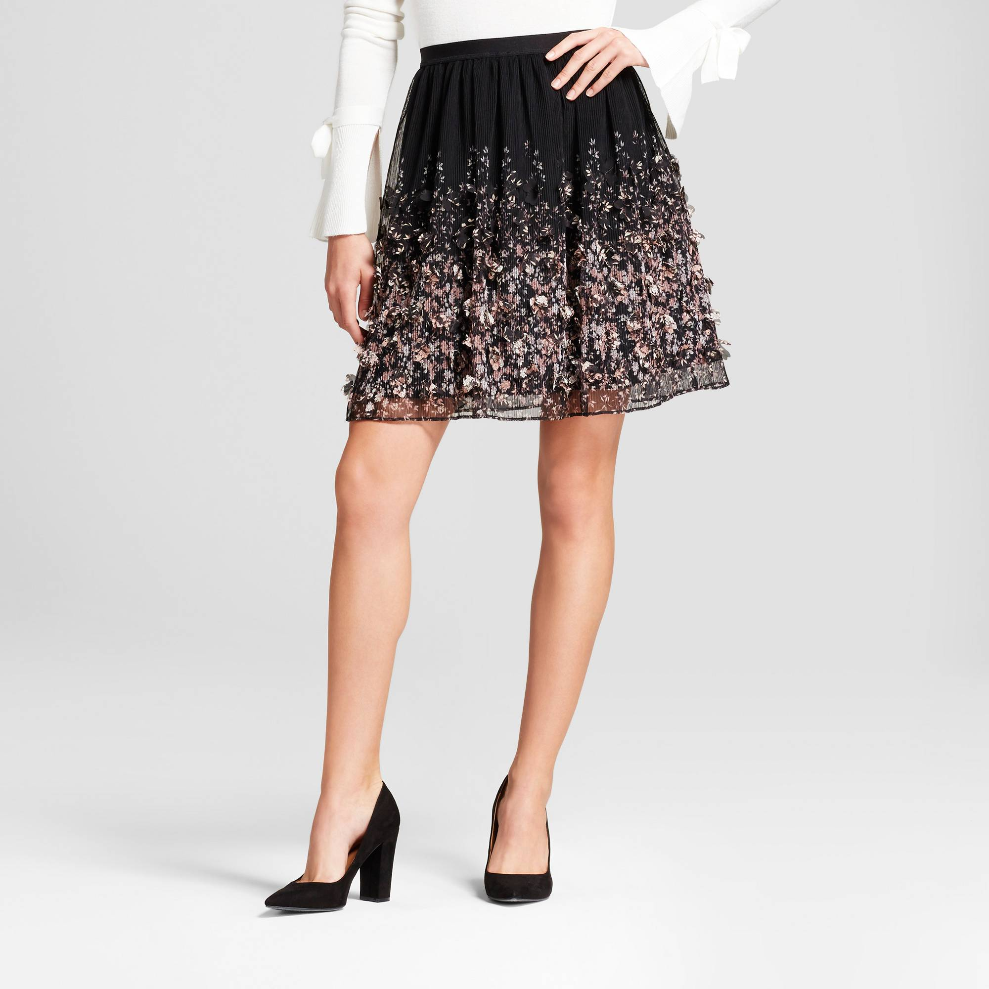 a new day floral texture skirt