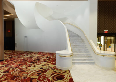 staircase inside ahern hotel and convention center