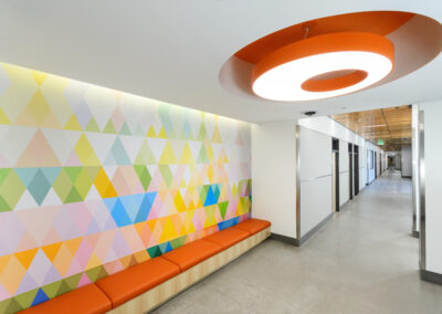 hallway inside of Glen & Ande Christenson School of Education, Nevada State College