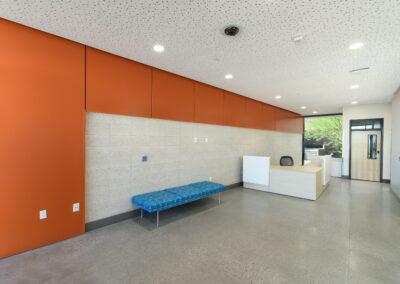 reception area inside of Glen & Ande Christenson School of Education, Nevada State College