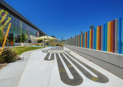 playground area of Glen & Ande Christenson School of Education, Nevada State College