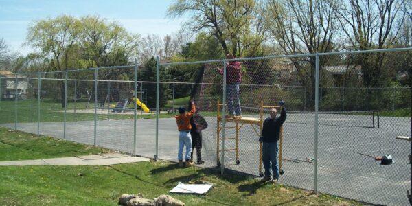 tennis court fence