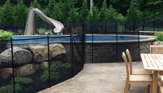 Safety fence pool