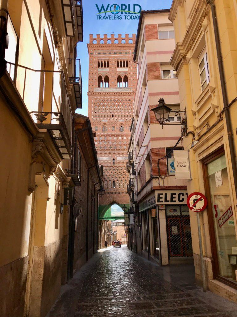 Torre de El Salvador in Teruel Spain