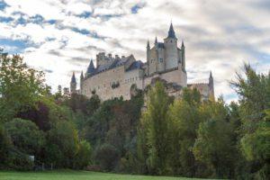 The castle in Segovia, Spain.