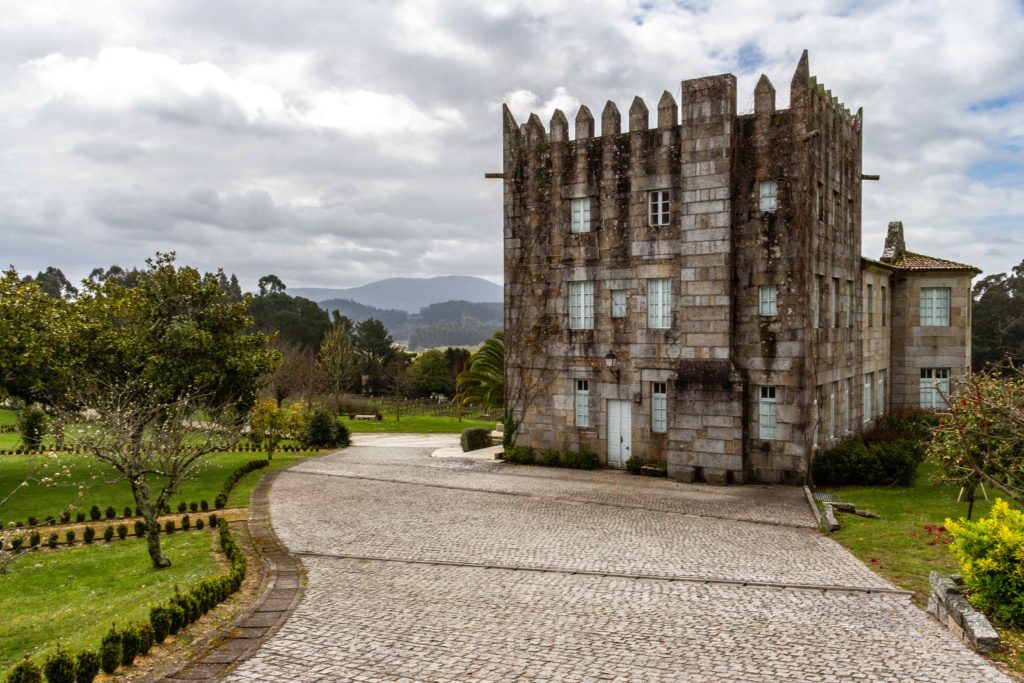 Old palace at the Pazo Baión Winery in Galicia, Spain.