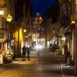 Cold Christmas night in  Rothenburg ob der Tauber.