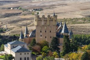 Castle in Segovia, Spain