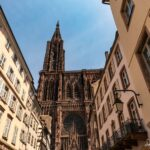 The beautiful Cathedral of Strasbourg, France.
