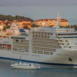Cruise ship docked in Split Croatia