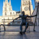 Burgos, Spain Pilgrim Statue