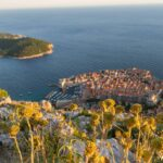 View from the Mountain of Dubrovnik Croatia