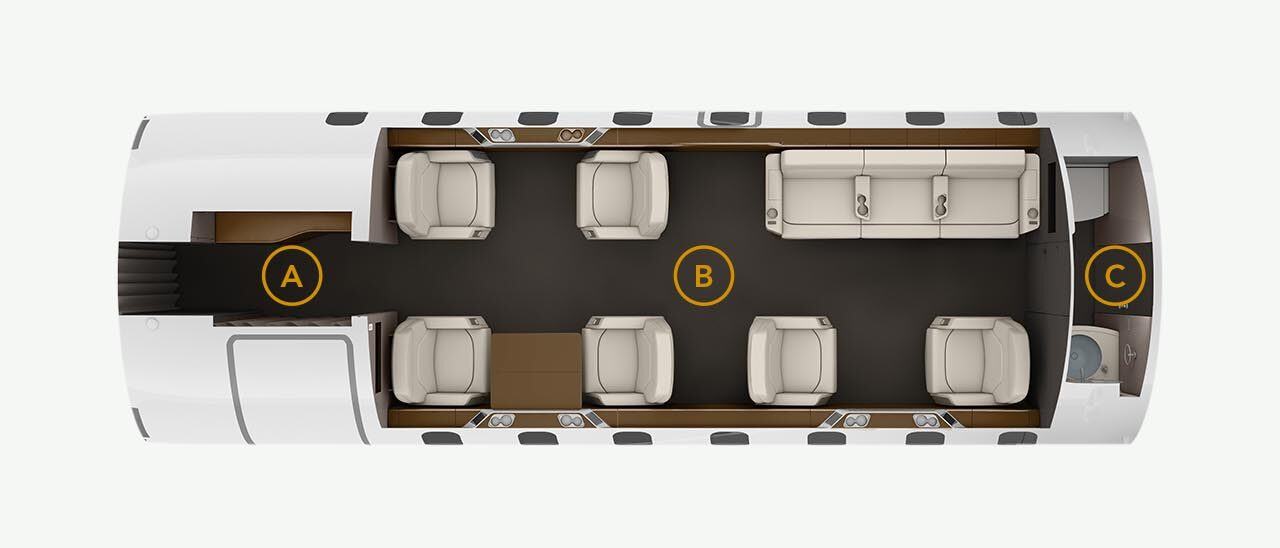 Challenger 605 Cabin Layout