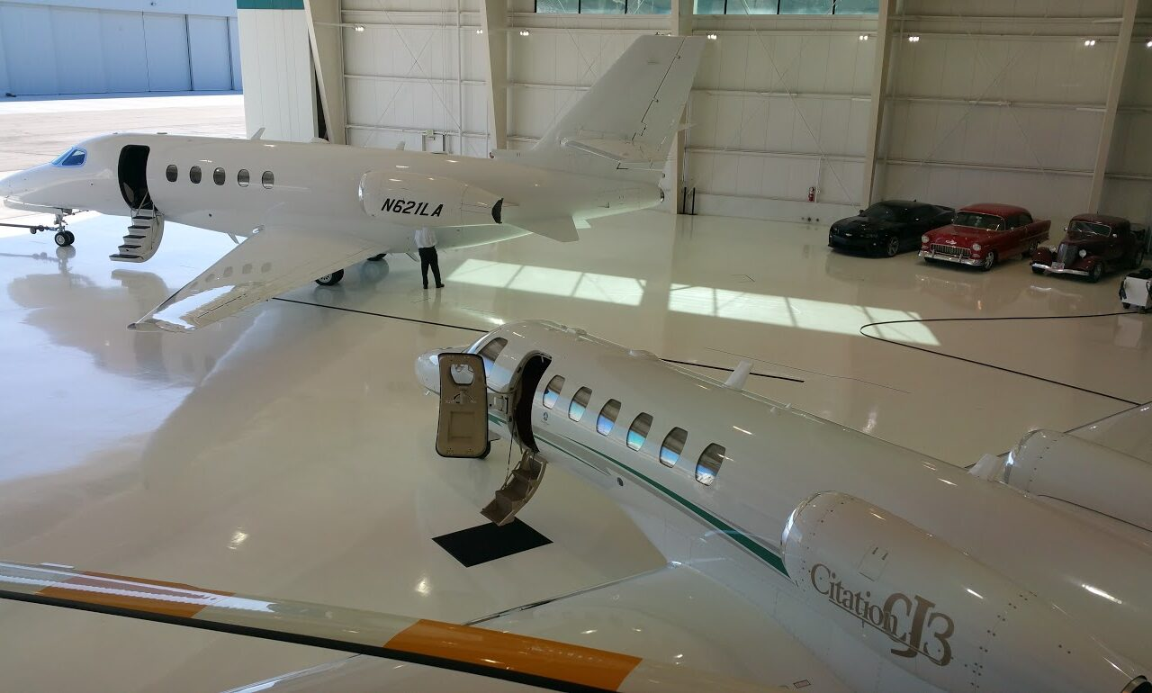 Citation Latitude in ADJ Hangar