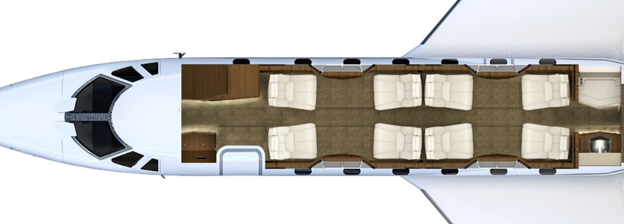 Citation X interior layout (1) (1)