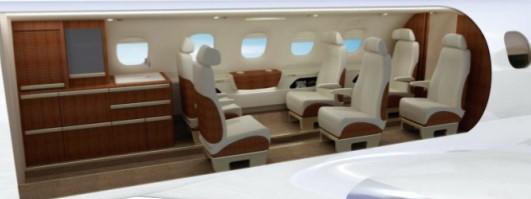Phenom 300 standard 6 passenger cabin config 3D