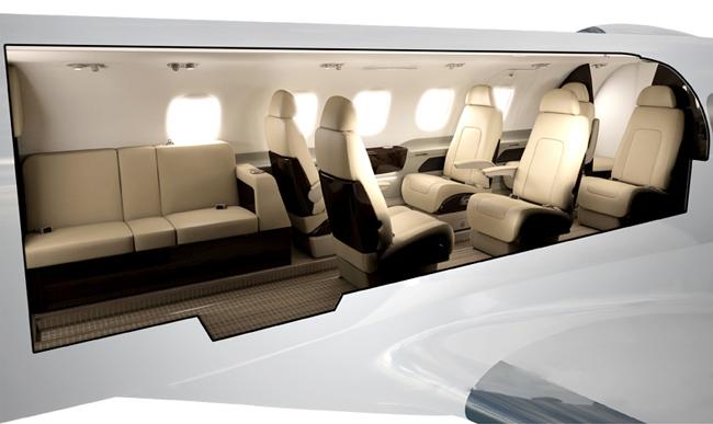 Phenom300 8 passenger cabin config