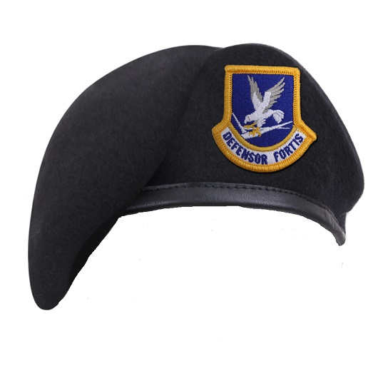 USAF Pre Shaped Pre Formed Security Forces Blue Beret  Inspection Ready
