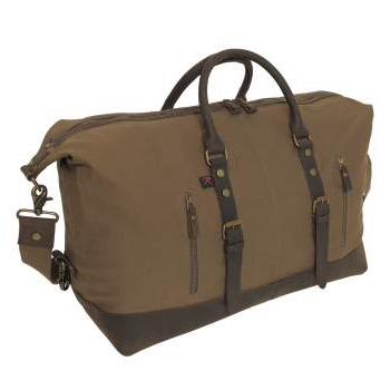 Leather Extended Weekender Bag