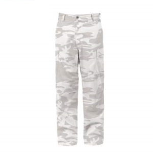 White Camouflage Tactical BDU Pants