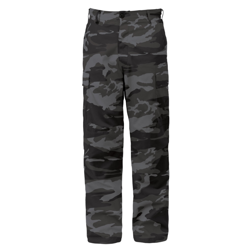 Black Camouflage Tactical BDU Pants