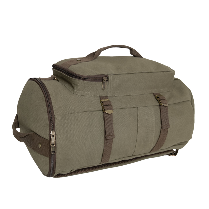 Convertible 19″ Canvas Duffelbag Backpack