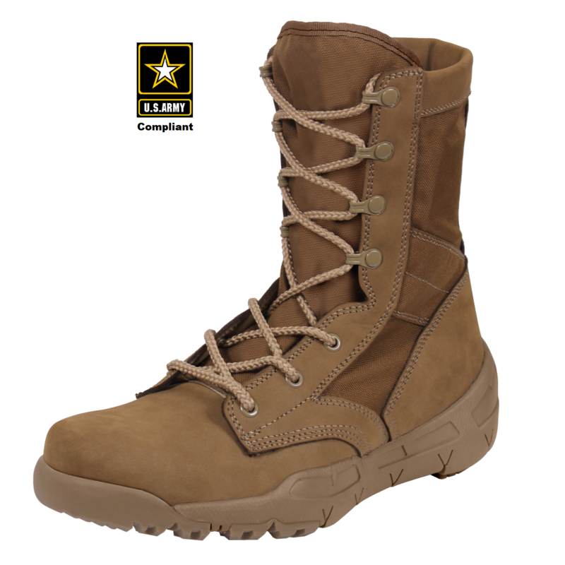 V-Max Waterproof Tactical Boot 8.5″ AR 670-1 Coyote Brown
