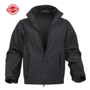 Black Soft Shell Police Waterproof Uniform Jacket