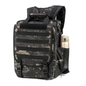 Black MultiCam Tactical Bulletproof Backpack Level IIIA