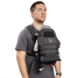 Men's Tactical Baby Carrier for Infants and Toddlers 8-33 lbs - Compact Black