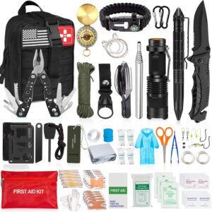 126Pcs Emergency Survival Kit Professional Survival Gear Tool First Aid Kit SOS