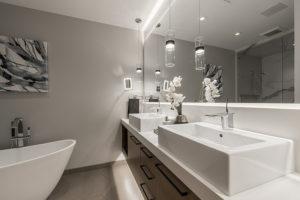 Bathroom mirror in Park City