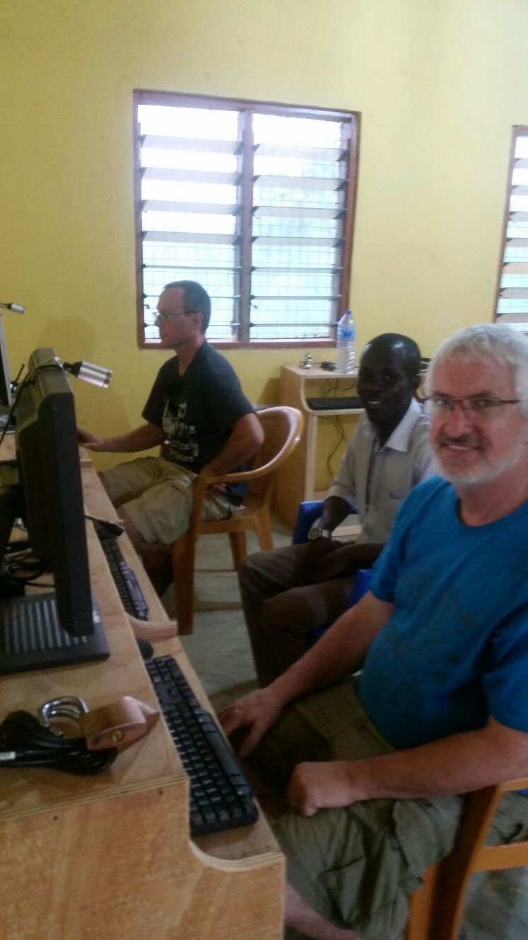 Dave, Patrick and Dann on the new workstations.