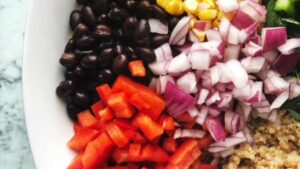 Southwest Quinoa Salad with Cilantro Lime Dressing